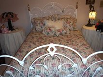 Queen Size Bed - Mattress ~ Box Spring & Comforter Set in Orland Park, Illinois