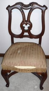Antique 1880's Wooden Chair in Bolingbrook, Illinois