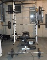 Sale Pending - Body by Jake Olympic Set Work out / Fitness / Weight /Exercise Machine in Bolingbrook, Illinois