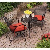 BHG Clayton Court 3-Piece Motion Outdoor Bistro Set, Red - NEW! in Bolingbrook, Illinois