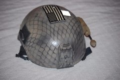sf navy seals delta ballistic helmet x harness modified mid cut 132b w mount  00133 in Fort Carson, Colorado