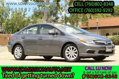 2012 Honda Civic EX-L Ask for Louis offer expires today (760) 802-8348 in Camp Pendleton, California