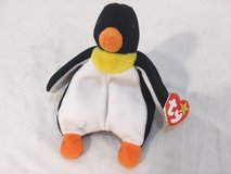 extremely rare retired waddle the penguin original ty tag pvc pellets version  01369 in Huntington Beach, California