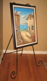 """Large Easel for Framed Picture or Portrait - Wrought Iron - 60"""" High in Naperville, Illinois"""