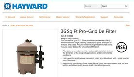 Hayward Pro-Grid DE 3620 Swimming Pool Filter *NEVER USED NEW IN BOX* in Yucca Valley, California