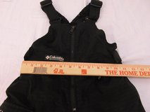 youth columbia sportswear 6/7 black polyester blend winter snow bib 6 - 7 years  00628 in Huntington Beach, California
