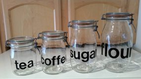 Triomphe Flour, Sugar, Coffee, Tea Canister Set with Seals in Algonquin, Illinois