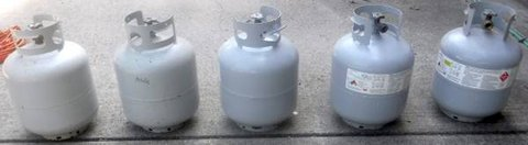Empty Propane Tanks - Tank used for outdoor Grill in Joliet, Illinois