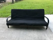 Reclining Black Futon in Camp Lejeune, North Carolina
