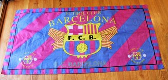 Barcelona Futbol Club FCB Soccer Team Flag/Banner -- 29.5 x 58.25 inches in Chicago, Illinois