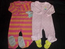 Carter's Baby Girl 4T 5T Fleece Pajama Blanket Sleepers in Silverdale, Washington