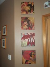 Set of four tin wall decorations in Silverdale, Washington