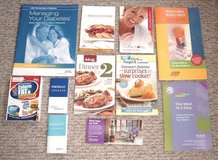 Lot of 11 Diabetic Hand Blood Sugar OneTouch Glucose Monitoring Log Cook Book in Yorkville, Illinois