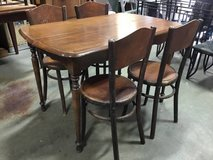 Set Of Four Fischel Bent Wood Chairs in Tacoma, Washington