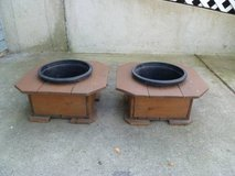 Handmade Cedar Wood Planters Set of 2 in Naperville, Illinois