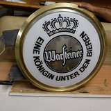 warsteiner beer bier large lamp german sign wall light lanturn in Ramstein, Germany
