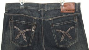 Artful Dodger Relaxed Fit Jeans w MACHETE Knife Pockets Tag 40 Measures 38 x 33 in Morris, Illinois