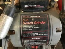 Sears Craftsman 6 inch Bench Grinder, 1/3 HP, 1/2 inch arbor in Naperville, Illinois