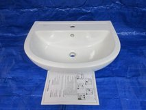 **Bathroom Barclay Compact White Wall-Mount Round Bathroom Sink in Naperville, Illinois