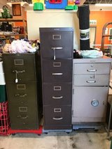 Three Vintage Filing Cabinets w/ Safe in Wilmington, North Carolina
