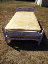Bed*Complete*Twin Bed*Distressed*Mattress,Box Springs in Fort Leonard Wood, Missouri