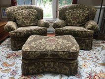 ~TWO MATCHING CHAIRS AND OTTOMAN~CUSTOM MADE in Batavia, Illinois