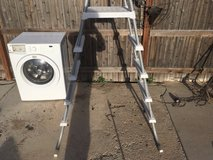 76 aluminum silver / white above ground 5 step pool ladder  01347 in Fort Carson, Colorado