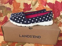 Land's End canvas polka dots ballet flip slip on shoes size 9 in Naperville, Illinois