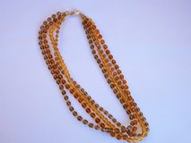 multi strand faceted glass bead vintage necklace with rhinestone clasp in Shorewood, Illinois