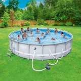 "Coleman Power Steel 18' x 48"" Frame Pool in Oswego, Illinois"