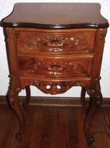 Antique French Rococo style Night Stand / Side / Accent Table ~ Curved Legs in Joliet, Illinois