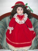 "Doll porcelain Head Long Hair Red Dress Limited Edition 18""hi Vintage in Temecula, California"