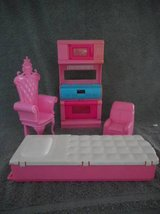 Barbie One Bed One Chair, One Big Princes Chair And Stove Vintage in Lake Elsinore, California