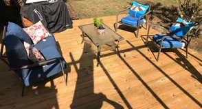Patio set coffee table loveseat chairs in Beaufort, South Carolina