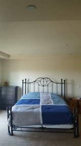 "King-Size Bed (Ornamental Metal Bed Frame) (72""x84"") in San Clemente, California"
