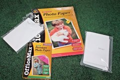 OfficeMax & HP Photo paper - 8.5 x 11,  4 x 6 & 4 x 6.5 inch in Joliet, Illinois