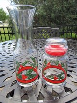 Libbey Holly & Berry Wine Carafe and Canister Set**Christmas/Holiday in Elgin, Illinois