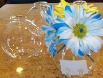 Set of 12 Flower Vase Place Card Holder Hand Blown Glass in Batavia, Illinois