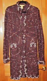 Acorn Brown Chunky Long Sweater Coat, Toggle Close - Lg - Acrylic/Polyester in Plainfield, Illinois