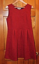 Young Threads Merlot Sleeveless Dress, Patterned Fabric, Pleated at Waist, Large in Aurora, Illinois