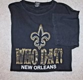 "Vintage New Orleans Saints ""Who Dat!"" Black Tee, Large in Aurora, Illinois"