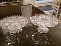 Cake Plates - Clear Glass in Westmont, Illinois