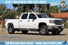 2013 GMC Sierra 2500HD 43k miles White 4x4 Diesel like Chevy Silverado in Vista, California