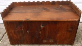 Vintage 80s Wood Storage Chest Bench w/hinged lid in Joliet, Illinois