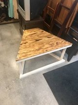 Wooden Wedge Shaped Coffee Table in Camp Lejeune, North Carolina