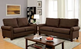 Hansel Brown Linen Fabric Sofa FREE DELIVERY in Miramar, California