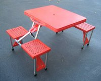 Portable Folding Plastic Picnic Table - Indoor Outdoor - Kids  Camping in Naperville, Illinois