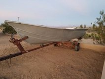 13'-14' Aluminum Fishing Boat with trailer in Yucca Valley, California