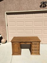 Solid Oak Wood Desk in Travis AFB, California