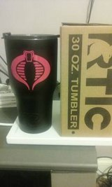 NEW Rtic 30oz Black tumbler w/ Cobra in Warner Robins, Georgia